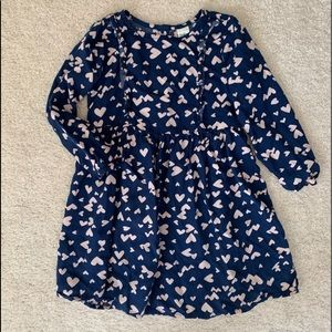 Toddler girl dress with hearts